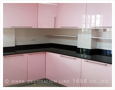 Pink Kitchen Cabinets hi gloss cabinet panel kitchens | ayara decoration line 1656